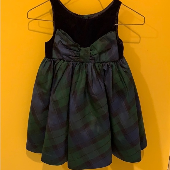 Janie and Jack Other - Holiday green plaid dress